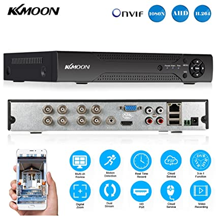 KKmoon 8 Channel 720P CCTV Network DVR H 264 HDMI Home Security System  Motion Detection
