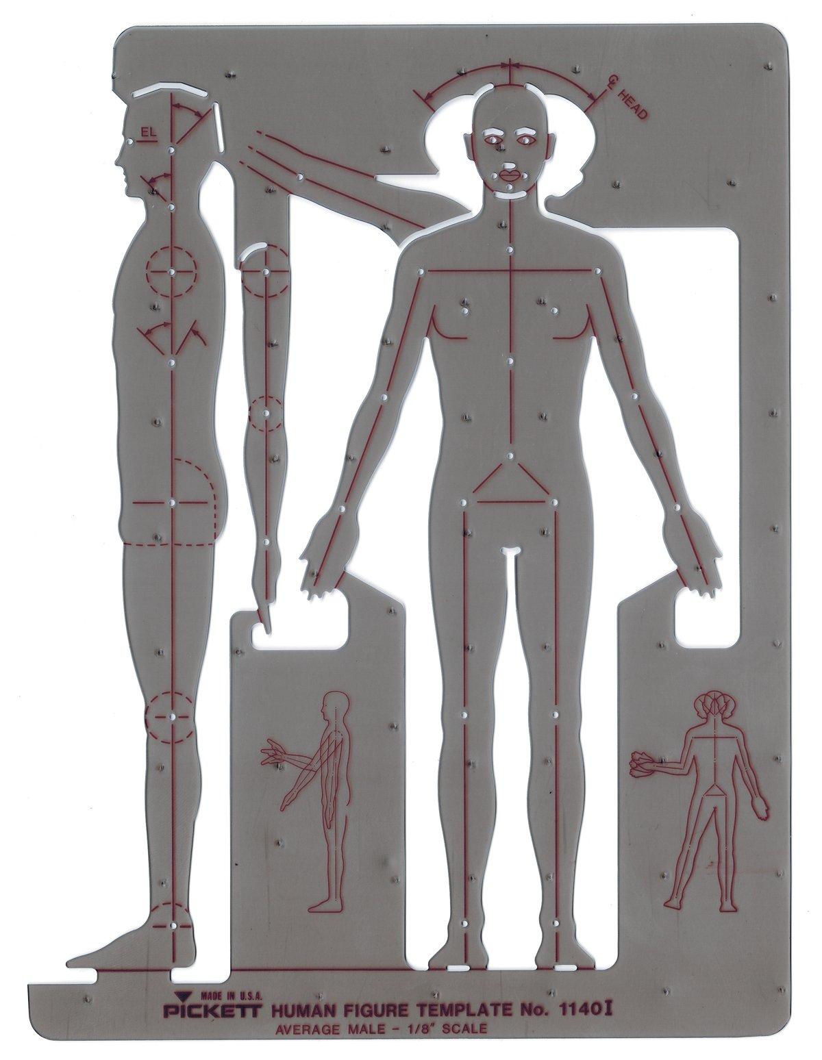 Pickett Male Human Figure Template (1140I)