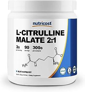 Nutricost L-Citrulline Malate 2:1 (300 Grams) (Blue Raspberry)