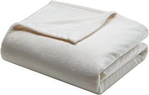 Madison Park Microlight Luxury Throw Blanket Premium Soft Cozy For Bed, Couch or Sofa, King, Ivory