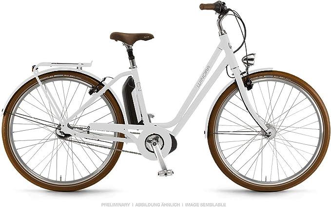 Winora Saya N7 2019 - Bicicleta eléctrica Bosch (400 WH), Color Blanco, tamaño 52 cm, tamaño de Rueda 28.00: Amazon.es: Deportes y aire libre