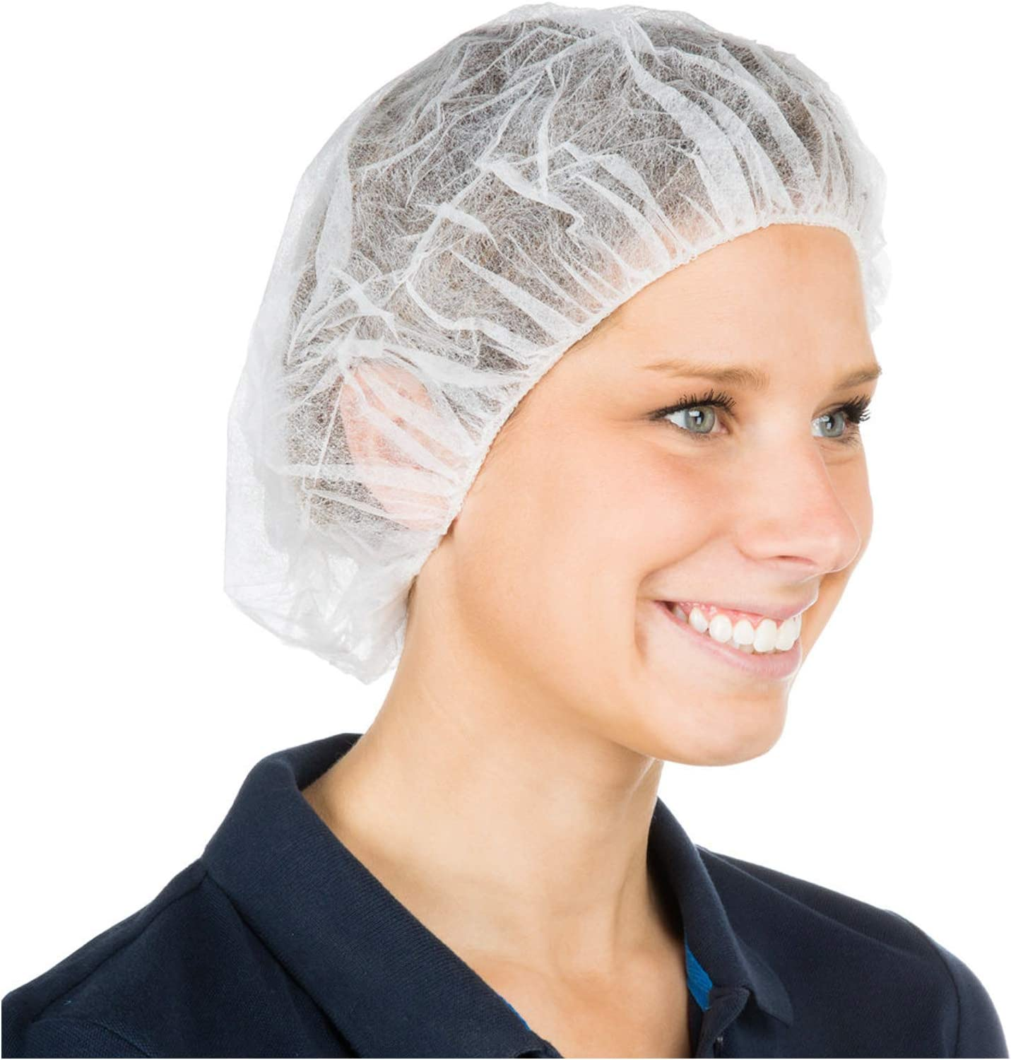 Cleaing Disposable Bouffant Cap 24inch 100 Pack White Hair Net