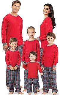 43470e8d49 Amazon.com  PajamaGram Family Christmas Pajamas Set - Cotton Flannel ...