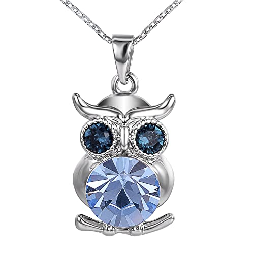 Yoursfs Owl Pendant Sweater Chain Long Necklace Fashion Charm Jewelry Austrian Crystal Sweater Chain Necklace eA3GC4y4