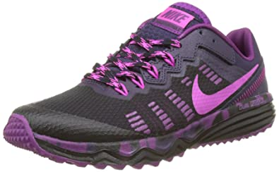 5fed22f8ba9 Nike Women s s Dual Fusion 2 Trail Running Shoes Black Purple  Dynasty Bright Grape