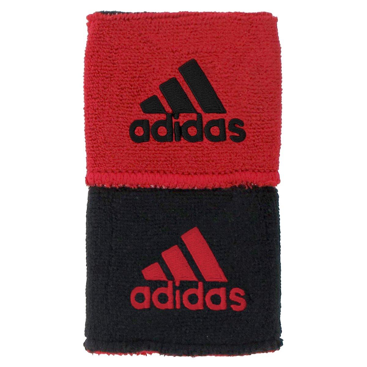 adidas Interval Reversible Wristband, Black/University Red / University Red/Black, One Size Fits All