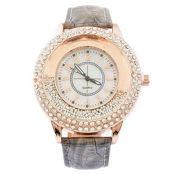 Mujer Gris arenas movedizas Reloj de pulsera Quartz Reloj Verano Reloj Quartz Reloj analógico