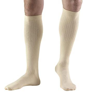 Truform 1942, Mens Dress Style Compression Socks, Over-the-Calf Length,