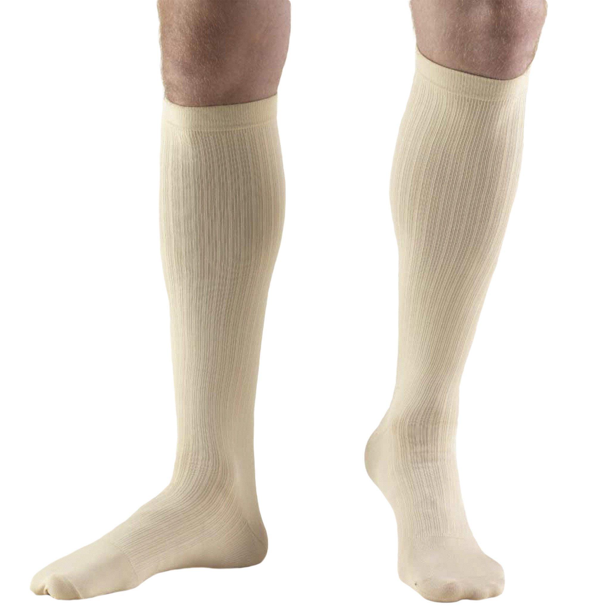 Truform Compression Socks, 8-15 mmHg, Mens Dress Socks, Knee High Over