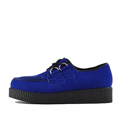 05b7135d5364 Kick Footwear Mens Flat Black Platform Teddy BOY LACE UP Goth Punk Creepers  Shoes Boots Size