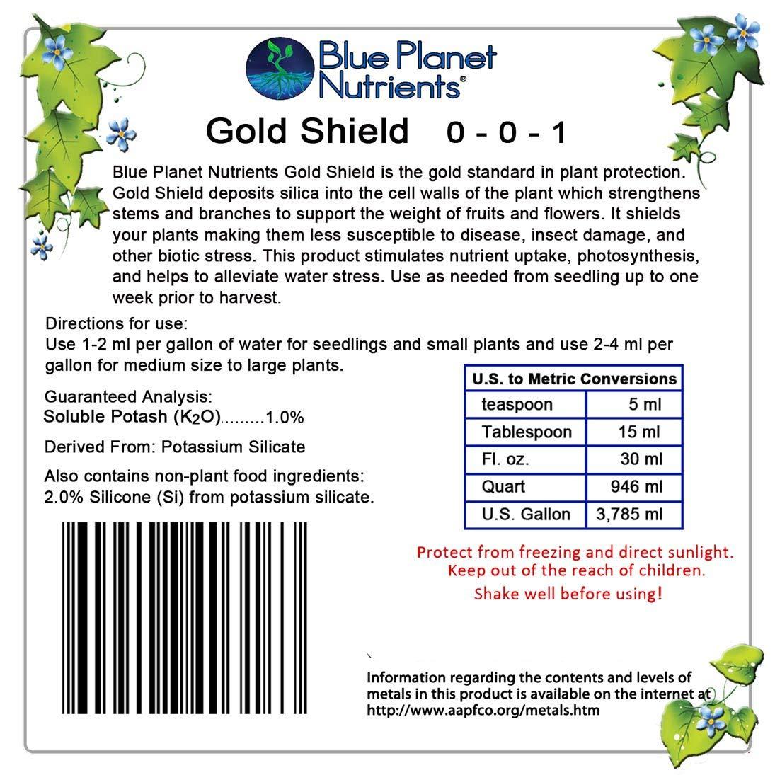 Blue Planet Nutrients Gold Shield Silica Supplement Quart (32 oz)