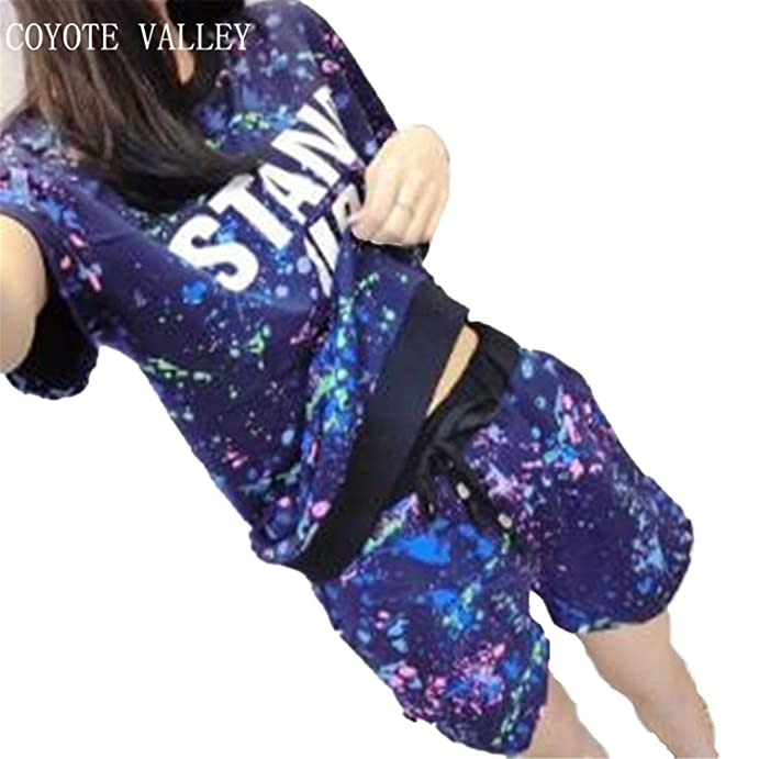 Coyote Valley NEW Pure Cotton Short Sleeve Shorts Leisure Suit Household To Take Summer Pajamas Women at Amazon Womens Clothing store: