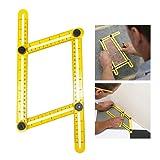 KingShark Angleizer Template Tool,Angle Measure Ruler,Multi Angleizer Template Ruler for Builders or Engineer,Yellow+Black
