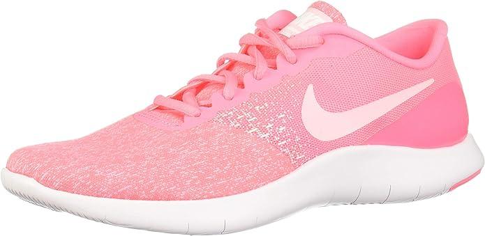 Nike Flex Contact Zapatillas de Running de Material Sintético para Mujer Rosa Sunset PulseArctic Punch