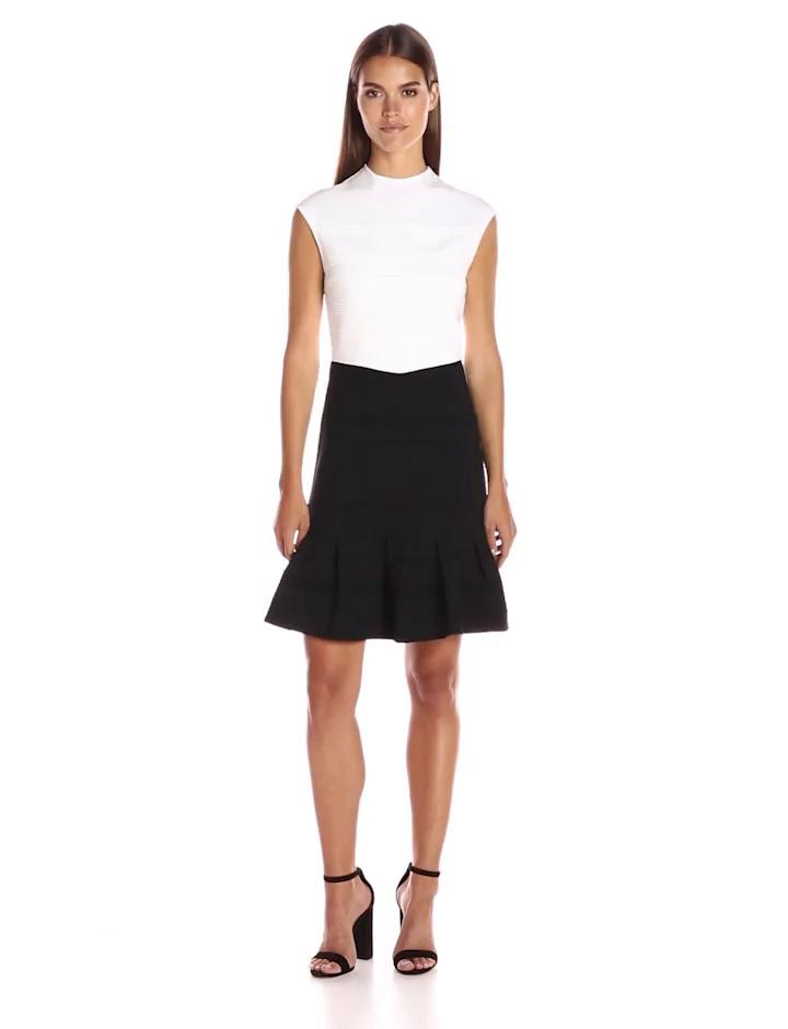 Amazon.com: Ted Baker Women\'s Demore Flared Skirt Detail Dress ...