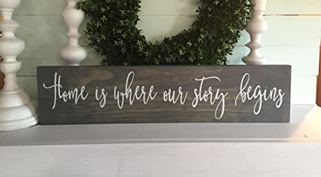 Amazon.com: Carolju Home Is Where Our Story Begins Home Is ...