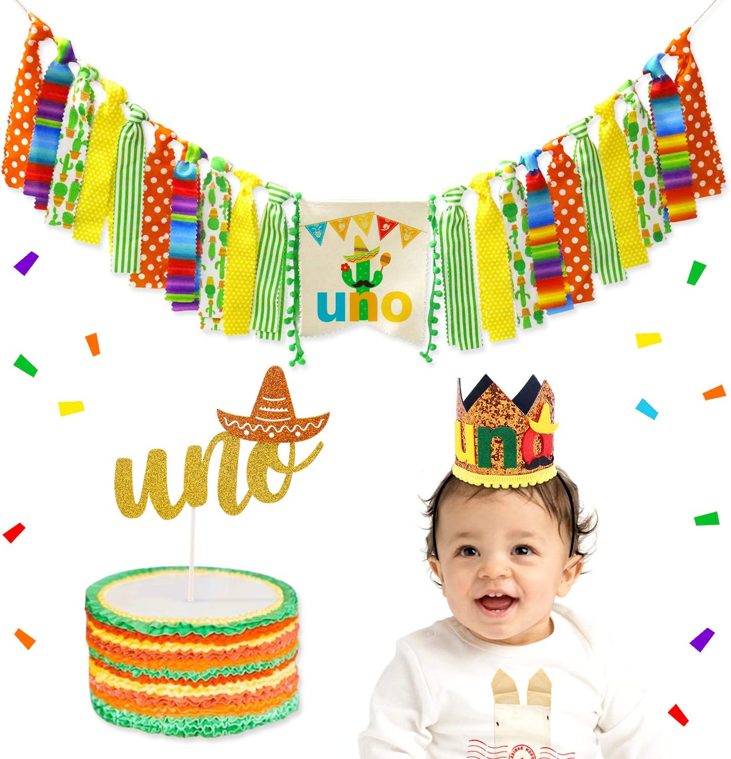 Mexican Cactus 1st Birthday Banner x2 Party Decorations Personalised ANY NAME