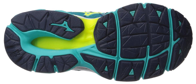 Mizuno Women's Wave Horizon Running Shoe B01MSWPBJC 7.5 B(M) US|Tile Blue-yellow