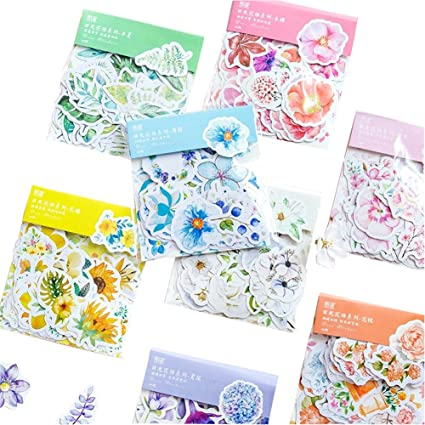 Hot Stickers Rose Ice Cream Botany DIY For Lady  Scrapbooking Decorate Album