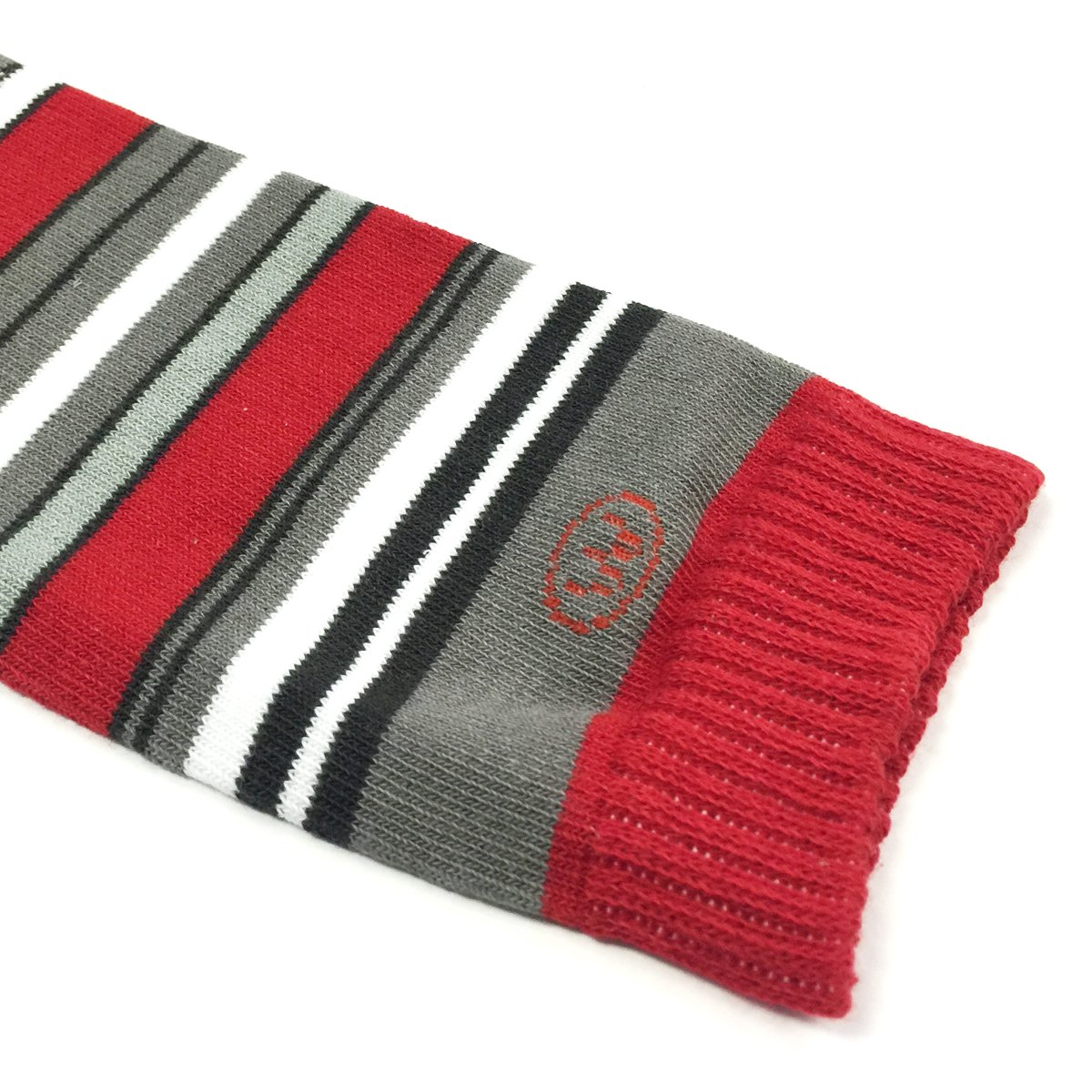 Wrapables Colorful Baby Leg Warmers, Stripes Red and Gray by Wrapables (Image #2)