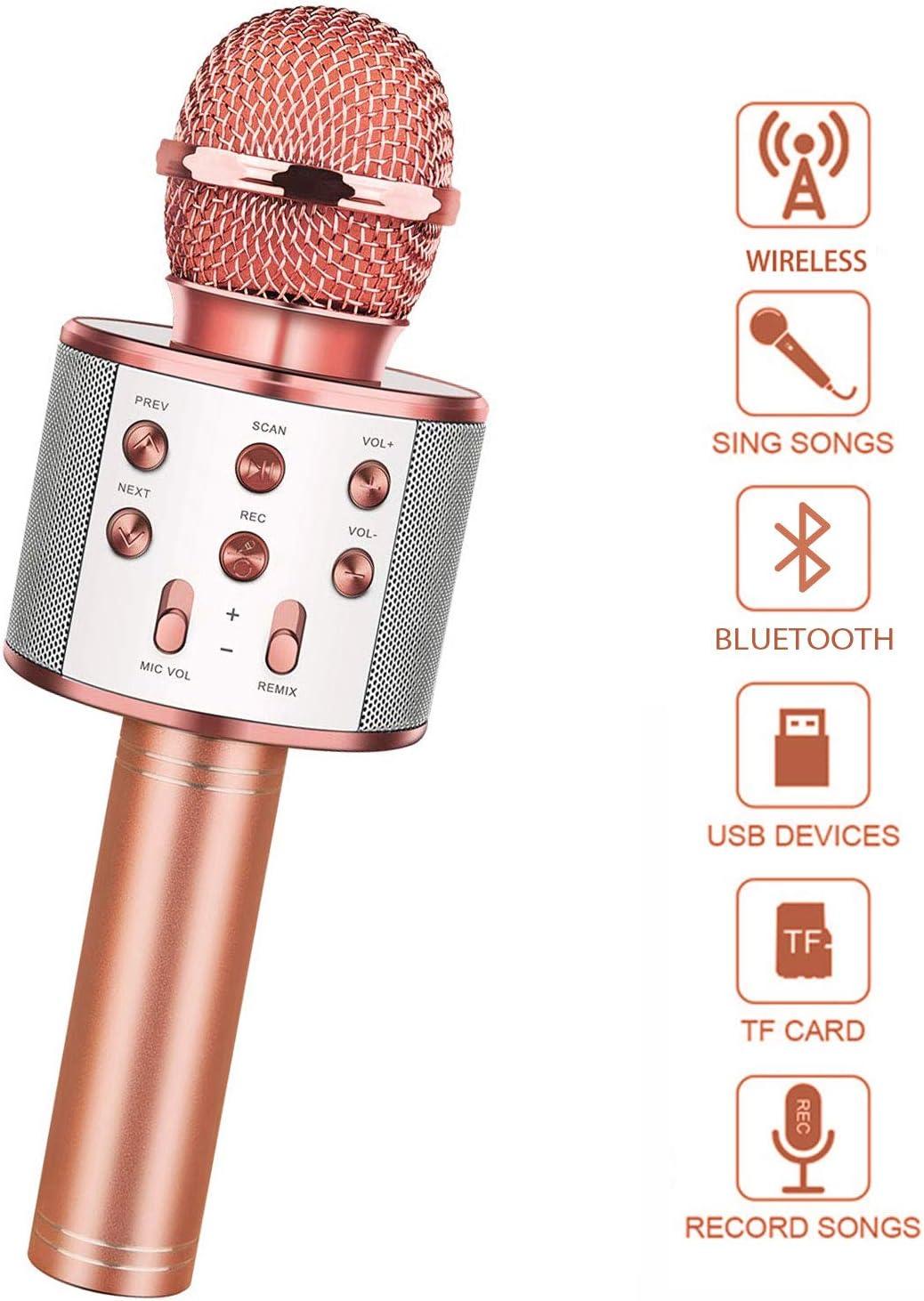 LetsGO toyz Fiesta De Micrófono Inalámbrico Bluetooth Karaoke para Niños - Regalos para Niñas Canta Partido Musica