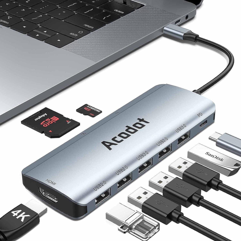 Acodot USB C Hub for MacBook, Multiport Typ-C Hub