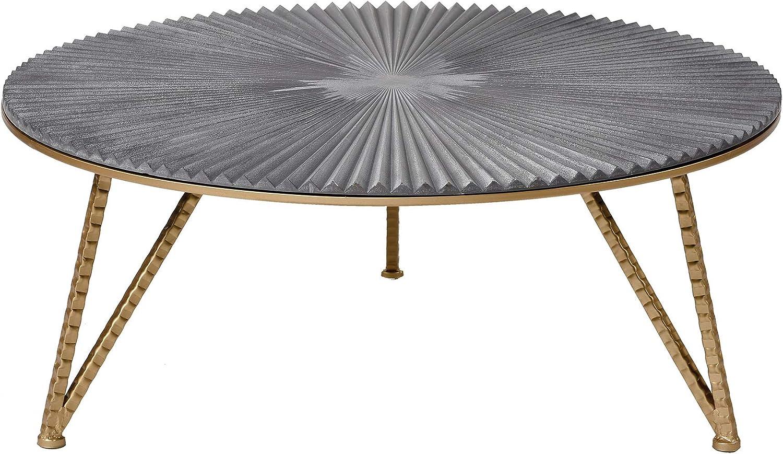 Hay Slit table, round, brass | Finnish Design Shop | 874x1500