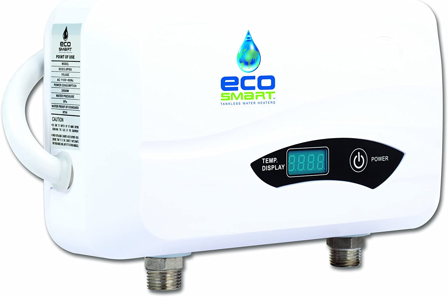 Ecosmart POU 3.5 Point of Use Electric Tankless Water Heater, 3.5KW@120-Volt - -