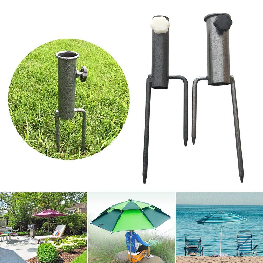 Ntribut Umbrella Base Umbrella Sand Anchor Umbrella Ground Spike Base Beach Garden Patio Stand Carbon Steel 34X4X8cm