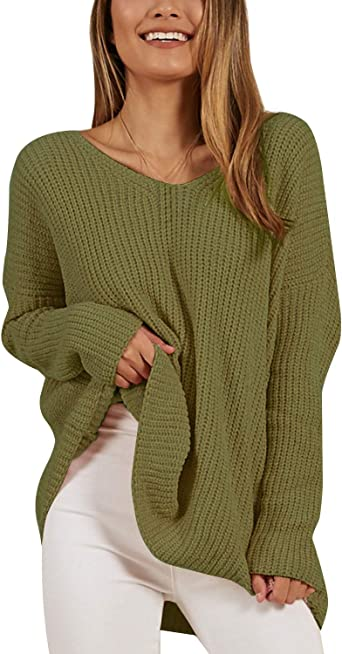 41 Fashion Women Long Sleeve Knitted Sweater Jumper Pullover Casual Loose Baggy