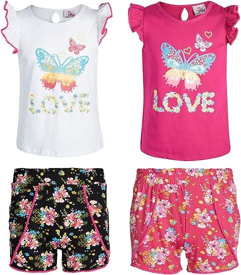 My Destiny Girls Sequin Love 2-Piece Shorts Set Outfit Short Sets
