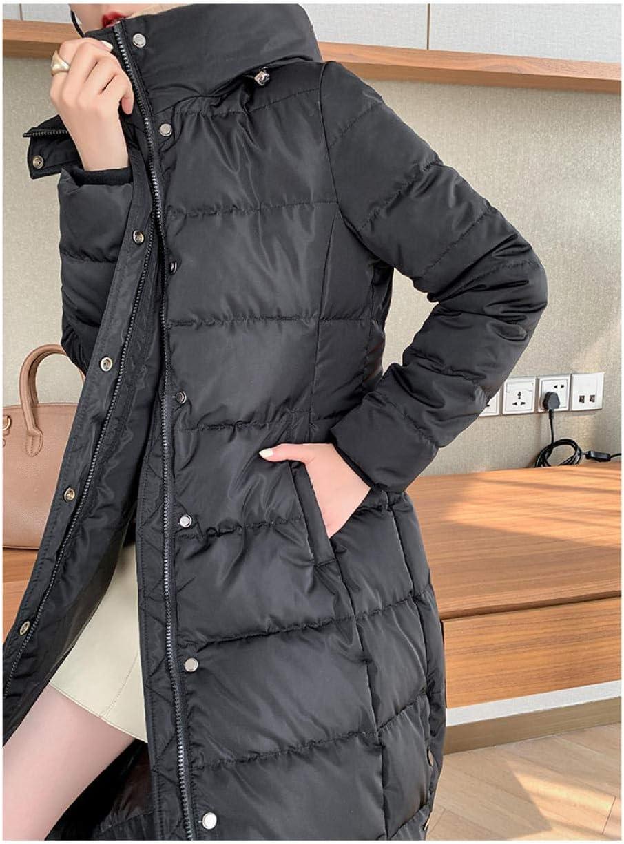 Fantasysmoke Veste d'hiver pour Dame avec Une Capuche Noir-M