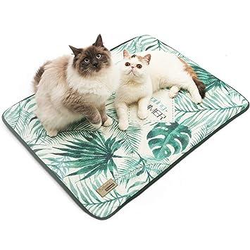 WOFALEGOGO - Alfombrilla de refrigeración para Mascotas, cojín de Hielo, Manta refrigerante para Dormir