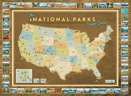 Amazon.com: National Parks Travel Quest Poster: Posters & Prints