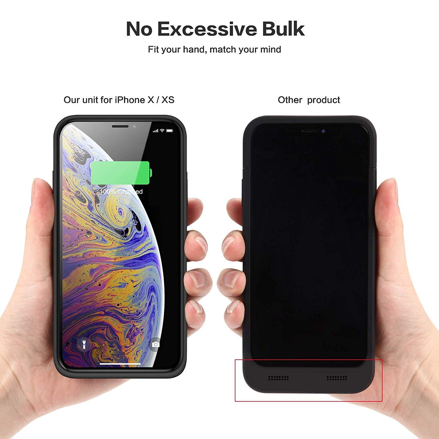 Blue iPhone 11 Pro Max Battery Case 6500mAh Portable Charger Rechargeable Slim Fit with Kickstand for iPhone 11 Pro Max 6.5 inch