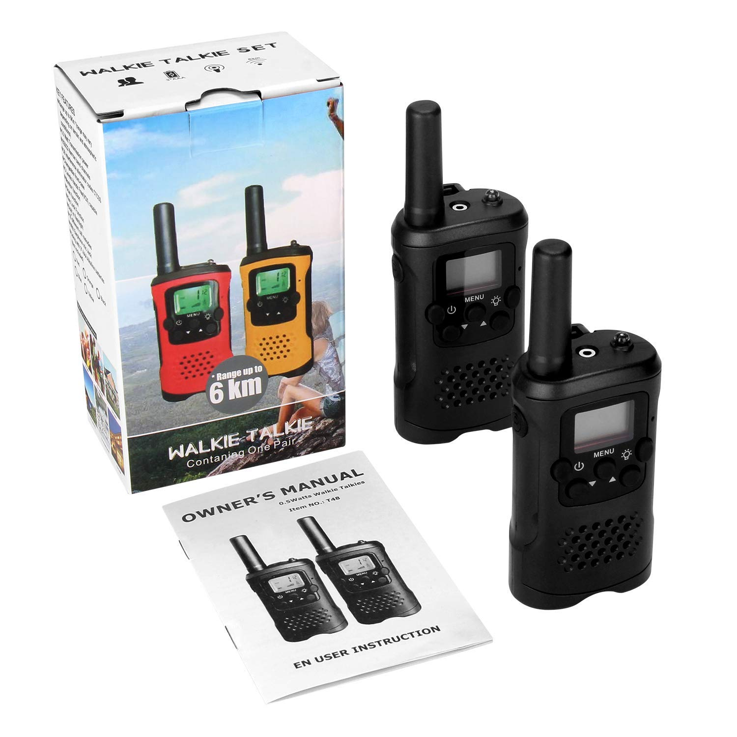 Walkie Talkies for Kids 22 Channels Long Range Rechargeable Walkie Talkies with Battery and Charger by VERDUO (Image #2)