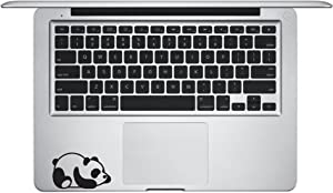 Laptop Sticker Decal - Panda Bear Laying Down KEYPAD - Matte Black Skins Stickers