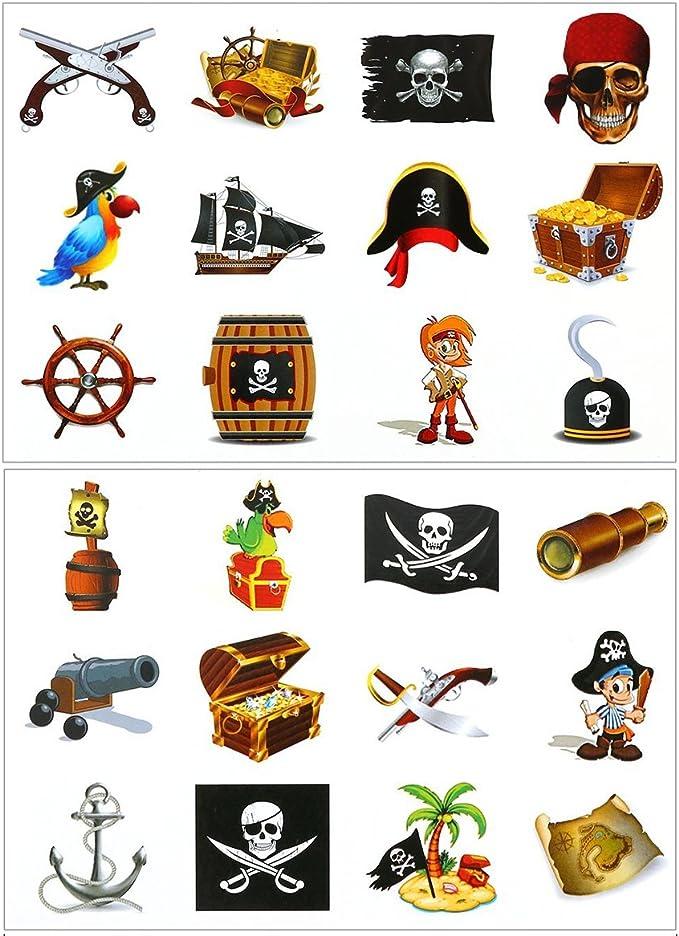 mi ji -Tatuajes Pirata,Tatuajes temporales de Estilo Pirata Falso ...