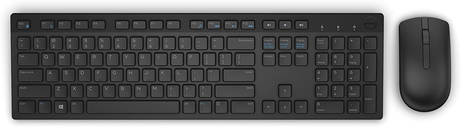 Dell KM636 Wireless Keyboard & Mouse Combo (5WH32) (Renewed)
