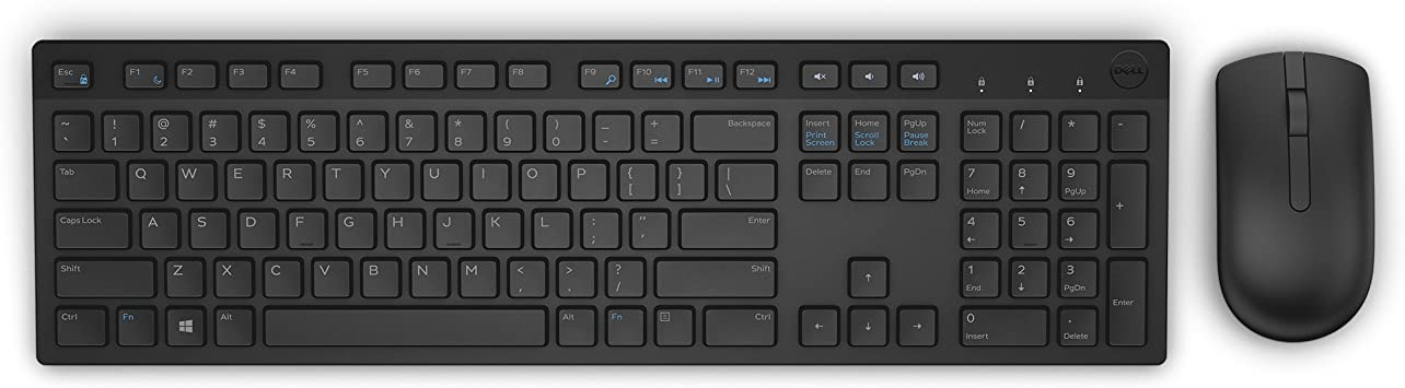 Amazon Com Dell Km636 Wireless Keyboard Mouse Combo 5wh32 Black Computers Accessories