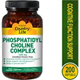 Country Life - Phosphatidyl Choline Complex, 1200 mg - 200 Softgels