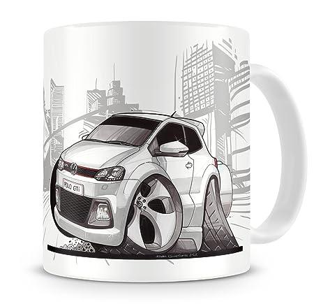 ClassicRetro KOOLART kruzroyal Caricatura de VW Polo GTI Blanco ...