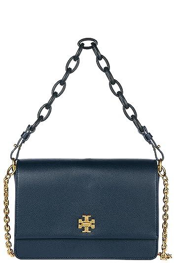 b223baaf109a Tory Burch women s leather shoulder bag original kira blu  Handbags   Amazon.com
