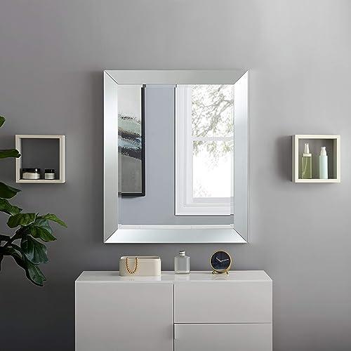 Naomi Home Mirrored Bevel Mirror Wall Mounted