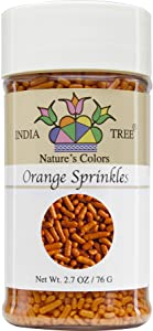 India Tree Nature's Colors Orange Sprinkles, 2.7 Ounce