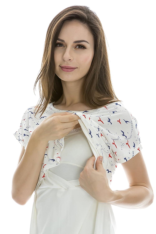 Chemise d/'allaitement pour femme Bearsland avec par-dessus