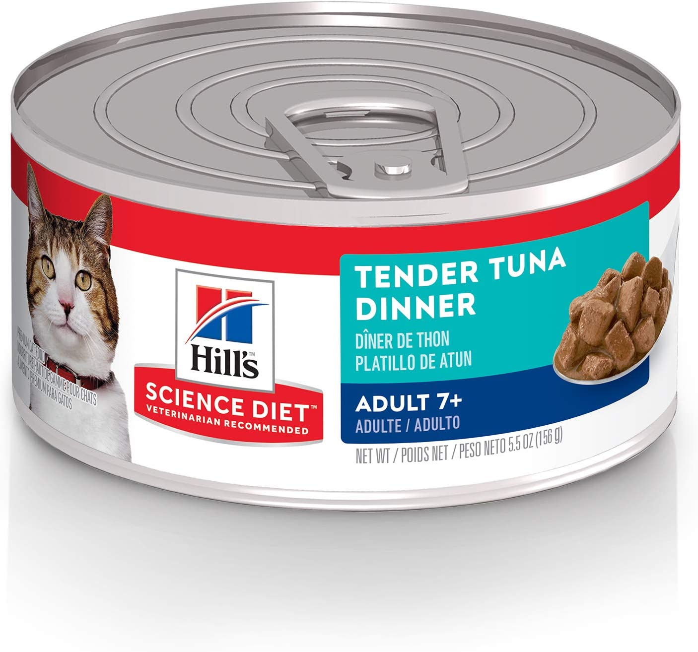Hill's Science Diet Wet Cat Food, Adult 7+, Tender Chunks and Gravy