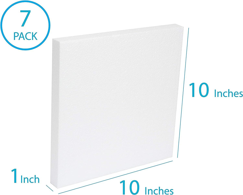 Styrofoam Sheets white flat foam board craft polystyrene 20x4x1 in 10,14,18 pack
