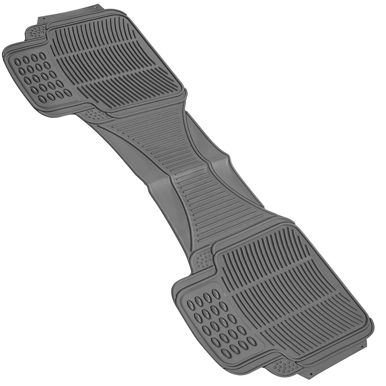 Johns FMR-21 (Runner) Gray All-Weather Rubber Floor Mats FMR-21-GY