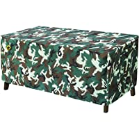 WJ eTrade Outdoor Table Covers, 67x44x28 inch Patio Furniture Cover, 600D Heavy Duty Waterproof UV Resistant, Fits…